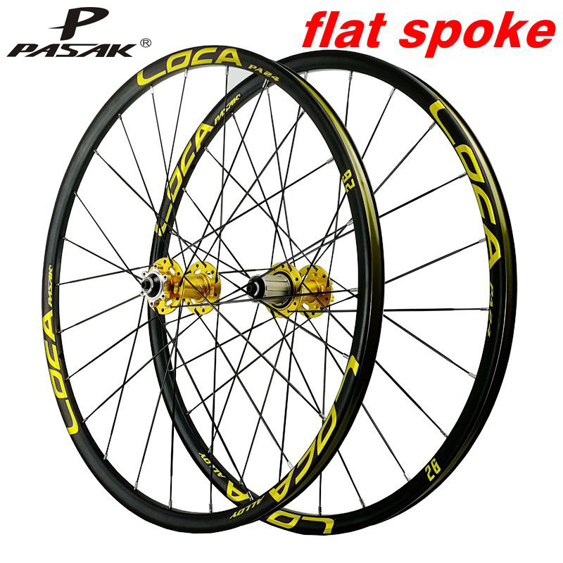 Ultralight mountain bike quick <font><b>wheel</b></font> set 26/27.5in 4 bearing flat strip <font><b>6</b></font> nail disc brake <font><b>wheel</b></font> <font><b>6</b></font> claw 11/12 image