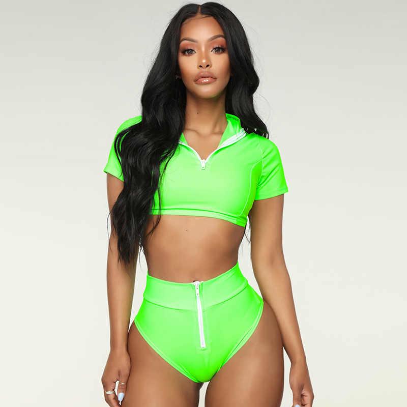 Olahraga Wanita Pakaian Renang Wanita Baju Renang Push Up Lengan Panjang K Berlaku 2019 Mujer Pakaian Pakaian Renang untuk Wanita Biquini