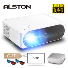 ALSTON M19 Full HD 1080P Proyector 4K 5800 lúmenes cine Proyector Beamer Android WiFi Bluetooth hdmi USB VGA AV con regalo(China)