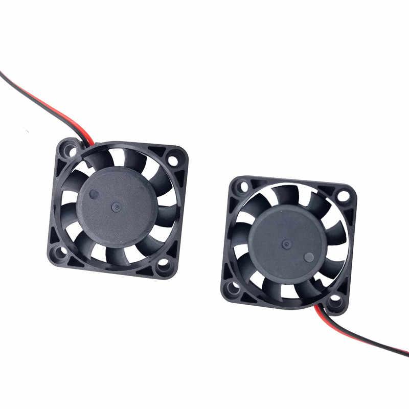 4010 12V/24V Cooling Turbo Kipas Brushless 3D Printer Bagian 2Pin untuk Extruder DC Cooler Blower Aksesoris hitam Plastik Penggemar