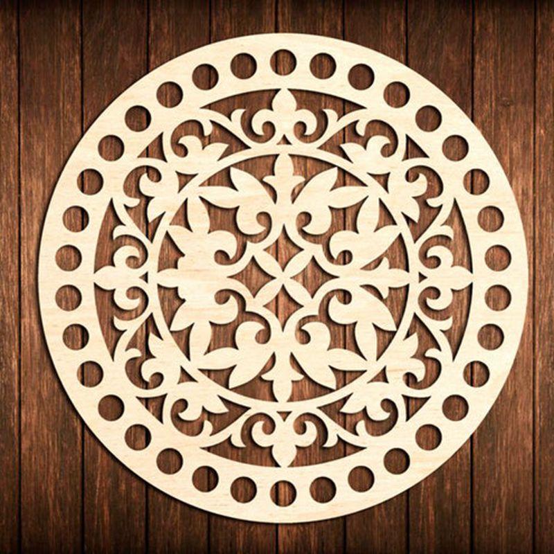 3 pieces 20cm flower circle round Wooden base for crochet basket Wood bottom base DiyWood DIY Crafts   -