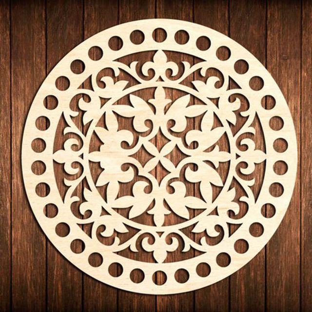 3 pieces 20cm flower circle round Wooden base for crochet basket Wood bottom base Diy
