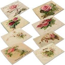 Mode Blume Rose Muster Tisch Matte Küche Dekoration Serviette Für Hochzeit Tisch Matte Tischset Esszimmer Zubehör
