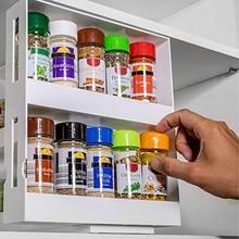 Doppel Schicht Multi-Funktion Lagerung Rack Rotierenden Küche Organizer Gewürz Gewürz Glas Halter