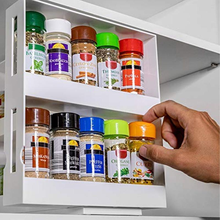Double Layer Multi-Function Storage Rack Rotating Kitchen Organizer Seasoning Spice Jar Holder