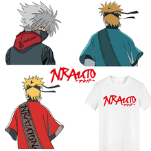 Anime Naruto Patch Iron on Transfer Letter Patches for Clothing DIY T-shirt Jacket Applique Thermal Transfer Stickers on Clothes fashion patch diy clothes super cat 3d stickers thermal transfer printing iron on patches for clothing t shirt free shipping