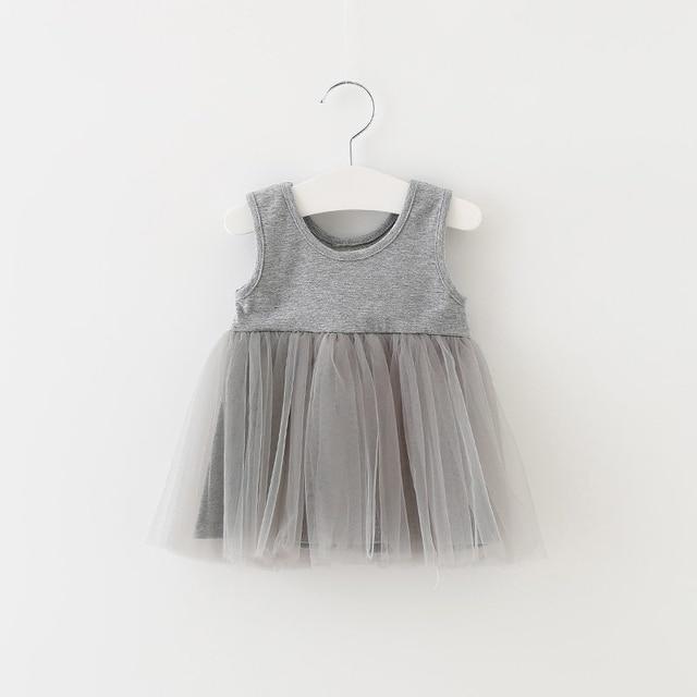 Vestidos de bebé sin mangas, ropa de verano para niñas, vestido de princesa, vestido de fiesta de cumpleaños para 1ª niña, bonito niño pequeño, Ropa para Niñas