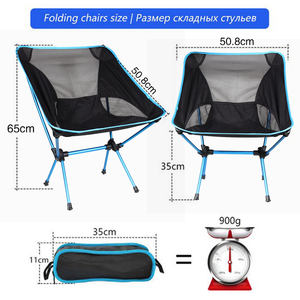 Image 2 - Travel Ultralight Folding Chair Superhard High Load Outdoor Camping Chair Portable Beach Hiking Picnic Seat Fishing Tools Chair