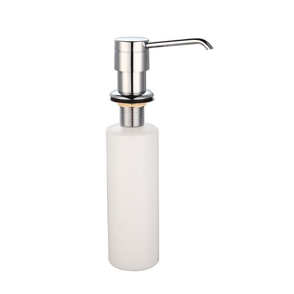White Liquid Soap Dispenser Lotion Pump Cover Built In Kitchen Sink Countertop Pressing Soap Lotion Dispenser Bathroom Tool 1.27