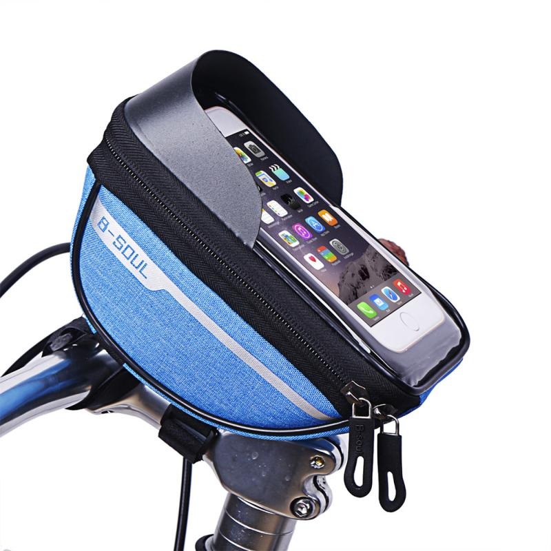 Bicycle Cycling Bike Head Tube Handlebar Phone Bag Case Holder Phone Mount Waterproof Touchscreen MTB Cycling Bag Accessories 7