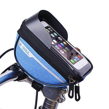Bicycle Cycling Bike Head Tube Handlebar Phone Bag Case Holder Phone Mount Waterproof Touchscreen MTB Cycling Bag Accessories 12