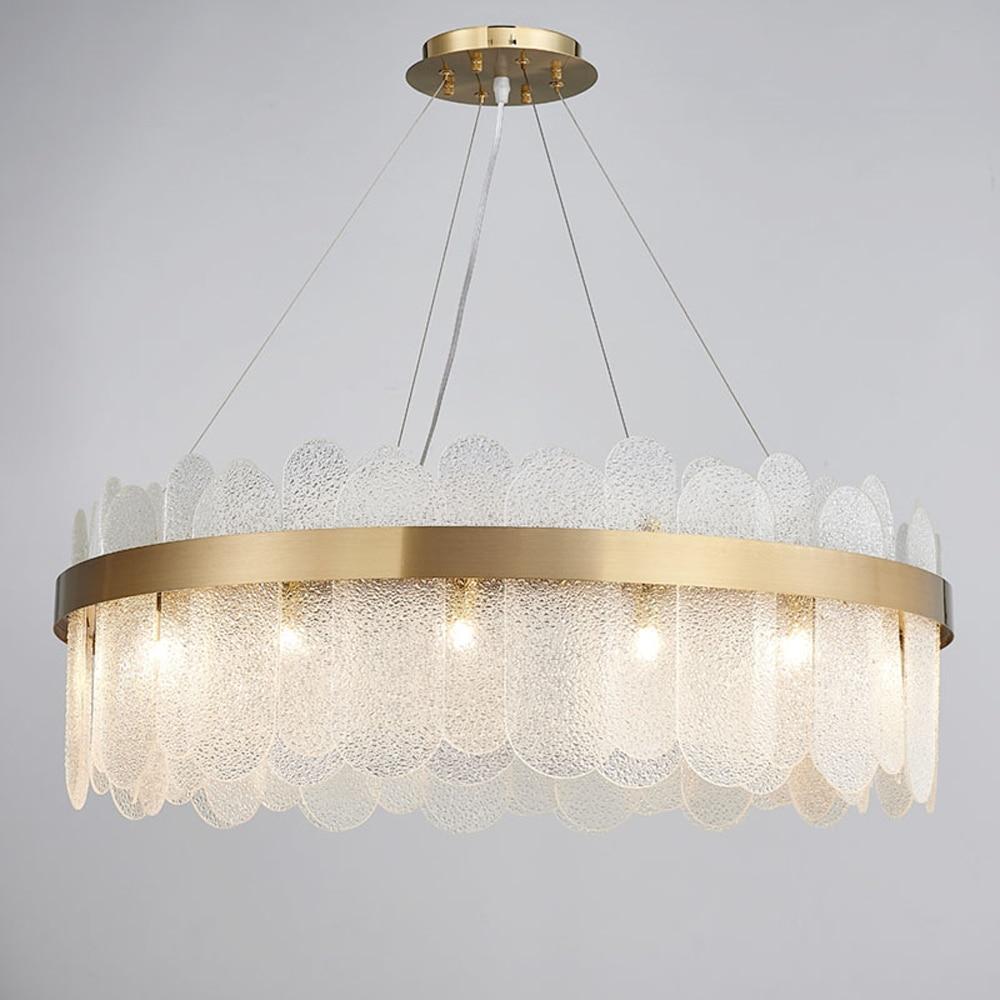 New Art Deco Chandeliers Modern Glass Lighting Ac110v 220v Led Dinning Room Living Room Light Fixtures Chandeliers Aliexpress