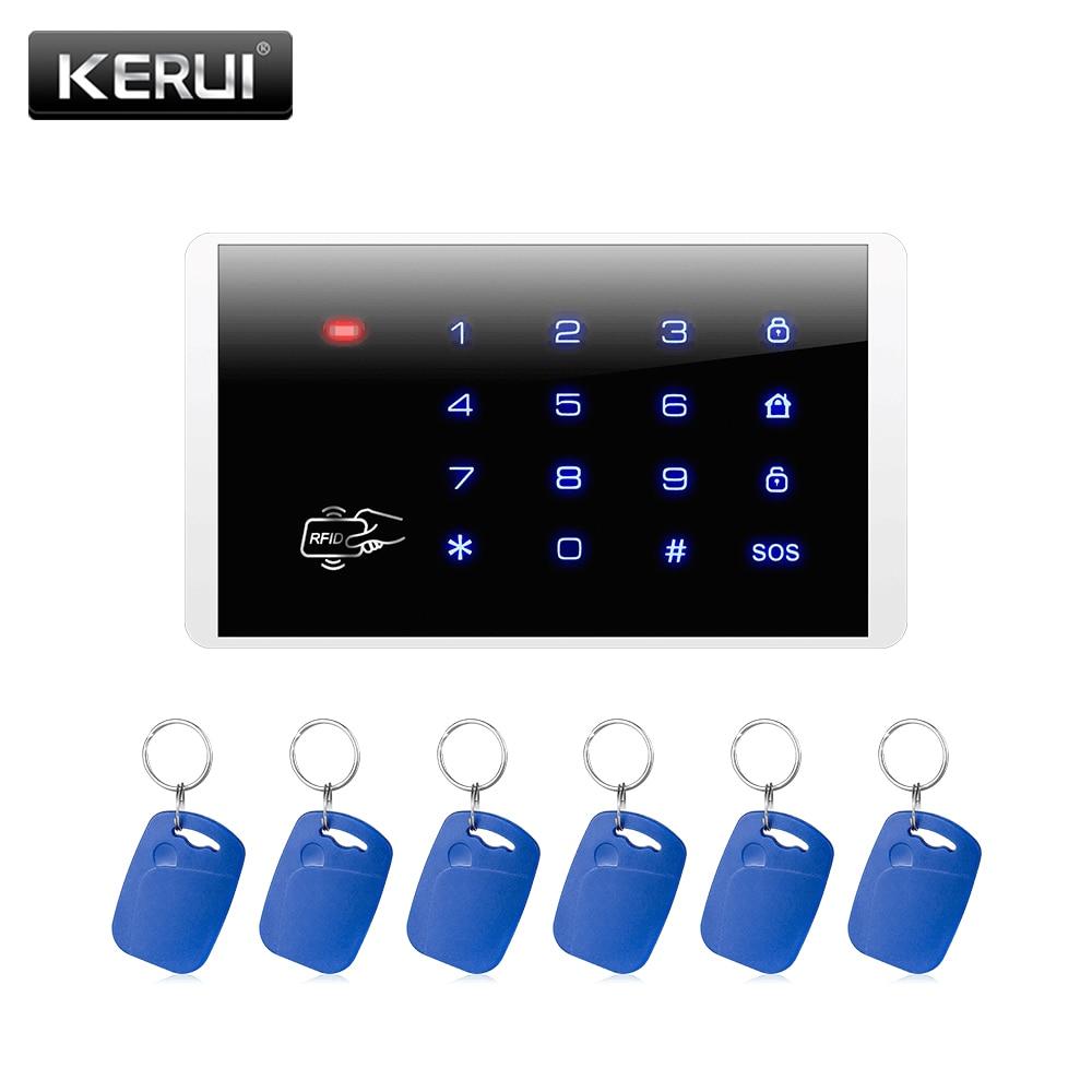 KERUI Wireless Keypad RFID Disarm Alarm System Touch Screen Keyboard For Kerui Home Security Alarm System