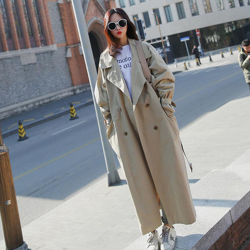 Women Loose Trench Coat New Arrival Fashion Holiday Comfortable Professional OL Temperament Solid Girls Warm Outdoor Long Trench