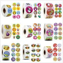 500 pces catoon recompensa animal adesivos rolls para crianças e professores motivacionais etiqueta do brinquedo da pré-escola da sala de aula (1