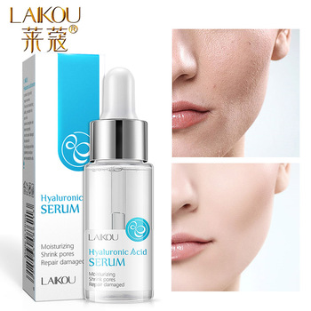 LAIKOU 15ml Hyaluronic Acid Essence Facial Serum Anti Wrinkle Whitening Vitamin C Face Serum Care Skin Hyaluronic Acid Pure laikou serum japan sakura essence anti aging hyaluronic acid pure 24k gold whitening vitamin c the ordinary skin care face serum