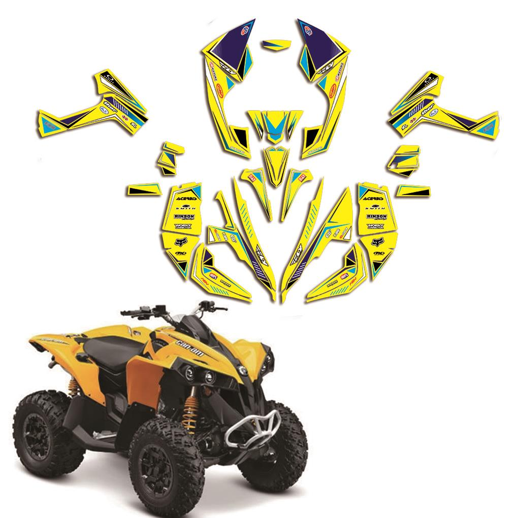 ATV Full Team Decals Stickers Graphic DECO Kit For Cam Am CAM-AM Renegade 500 800R 800X 800 X R 1000