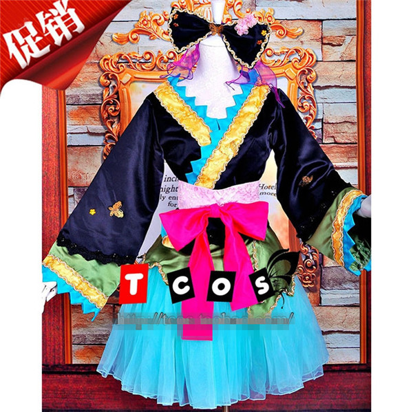 Vocaloid Hatsune Miku Magneet Halloween Kerst Cos Anime Party Cosplay Kostuum Uniform Courtisane Kimono Kleding