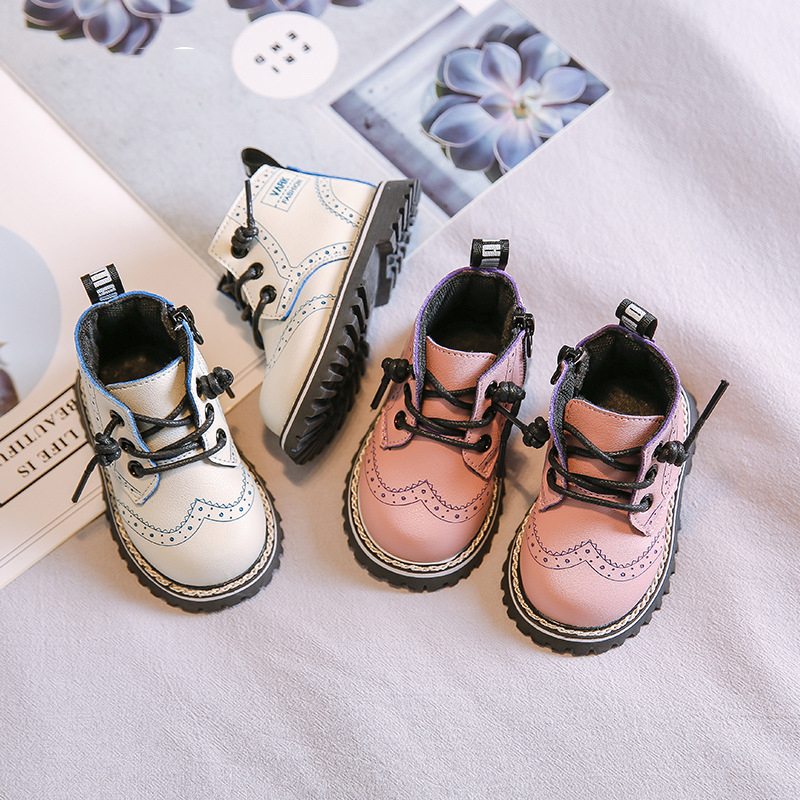 Female Baby Martin Boots 2019 Winter New Boy Soft Bottom Small Children Short Boots Tide Shoes