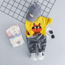 Children's Suit New Spring Infant Clothing Sets Baby Girls Boys Clothes Suits Cartoon Cotton T Shirt Pants Kids Children Costume цены онлайн