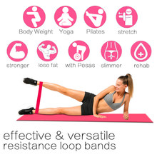 Resistance Bands Fitness Gum Exercise Gym resistance bands Strength fitness Resistance Bands Pilates Sport Rubber Fitness Band(China)