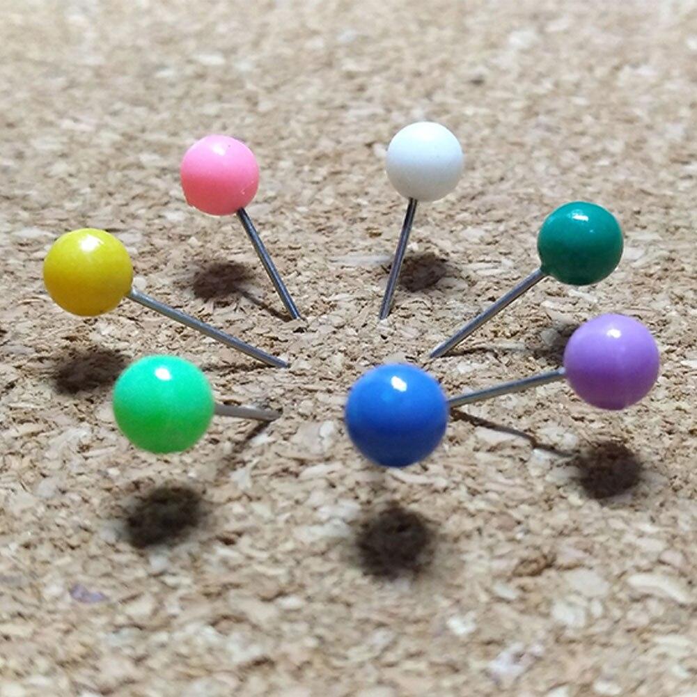 10 Colori 500pcs Puntine da Disegno Chiodini Testa,Con Scatola di Immagazzinaggio,Pin in acciaio inossidabile