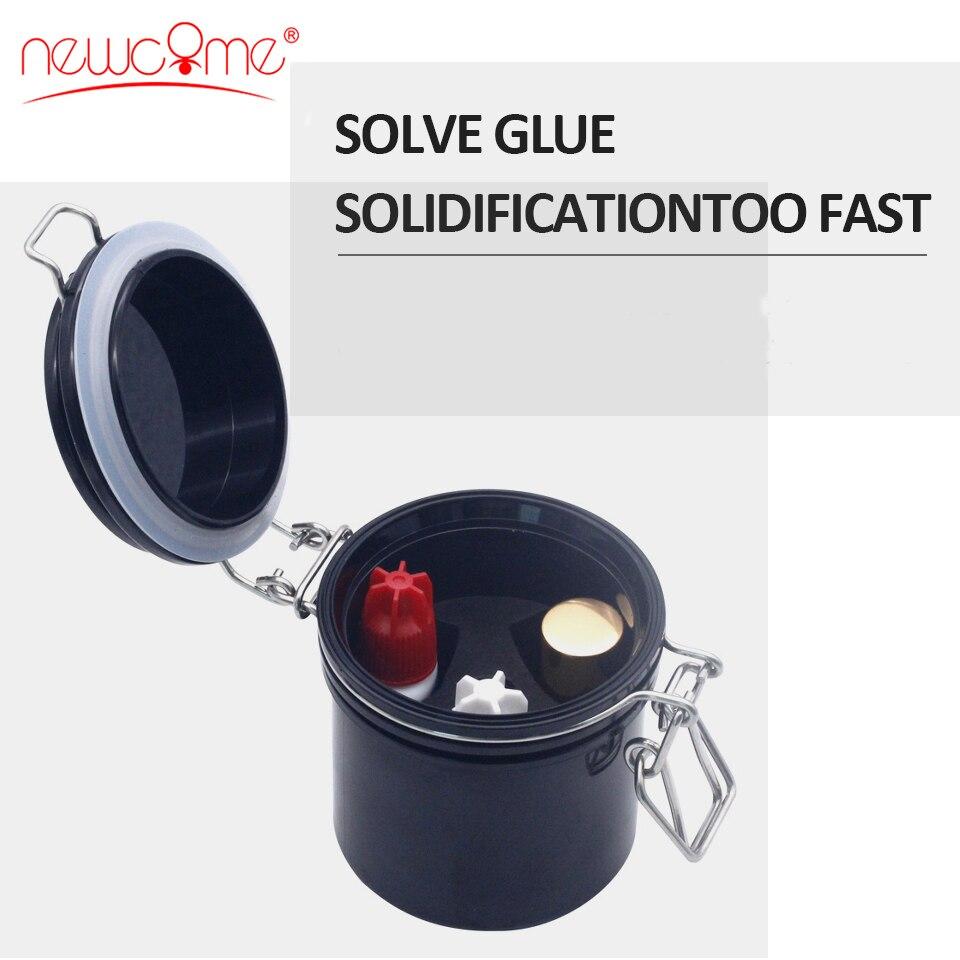 NEWCOME Eyelash Glue Storage Tank Individual Eyelash Extension Adhesive Stand Activated Carbon Sealed Storage Jar Make Up Tools