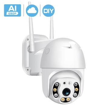 BESDER 1080P Outdoor Speed Dome Wifi IP Camera 2MP H.265 Audio PTZ Wireless AI Camera Cloud-SD Slot ONVIF Security CCTV Camera