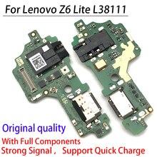 كابل USB مرن من النوع C أصلي 100% لهاتف Lenovo Z6 Lite L38111 ، قاعدة شحن ، موصل ، قطع غيار