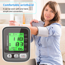Medical health Arm Blood Pressure Mete for Measuring Arterial Pressure Sphygmomanometer Rechargeable LCD Automatic Digital