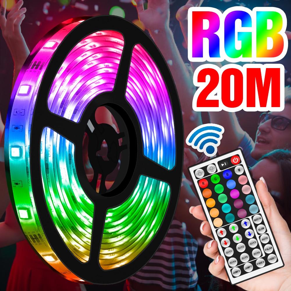 RGB Streifen Licht Wasserdichte Flexible Band 5050SMD Klebeband Diode DIY Farbe Lampe Streifen DC12V Urlaub Partei Licht Band UNS EU UK Stecker