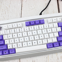 87 DSA Top Printed White Purple Keycaps Dye Sub Pbt Razer Gh60 Poker2 Xd64 87 104 Xd75 Xd96 Xd84 K70 Cherry Mechanical Keyboard (2)