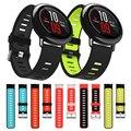 Ремешок силиконовый для Huami Amazfit Pace /Stratos 3 2 2S, сменный спортивный браслет для наручных часов, двухцветный