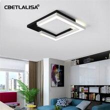 Modern LED ceiling lights for the living room bedroom kitchen lamp Black ceiling fixtures.50% цены
