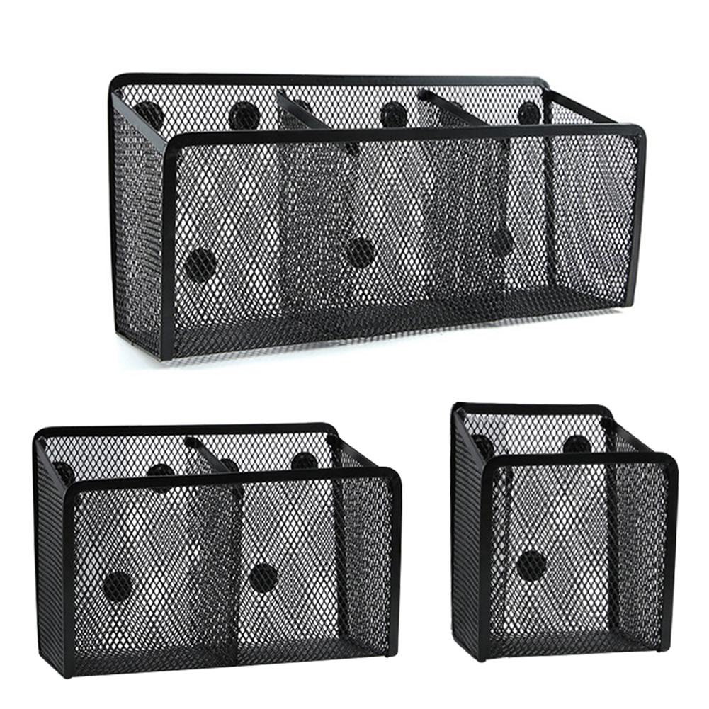 Magnetic Pencil Holder Magnetic Storage Basket Organizer Perfect Mesh Pen Holder To Hold Whiteboard Locker Accessories Pen Hold