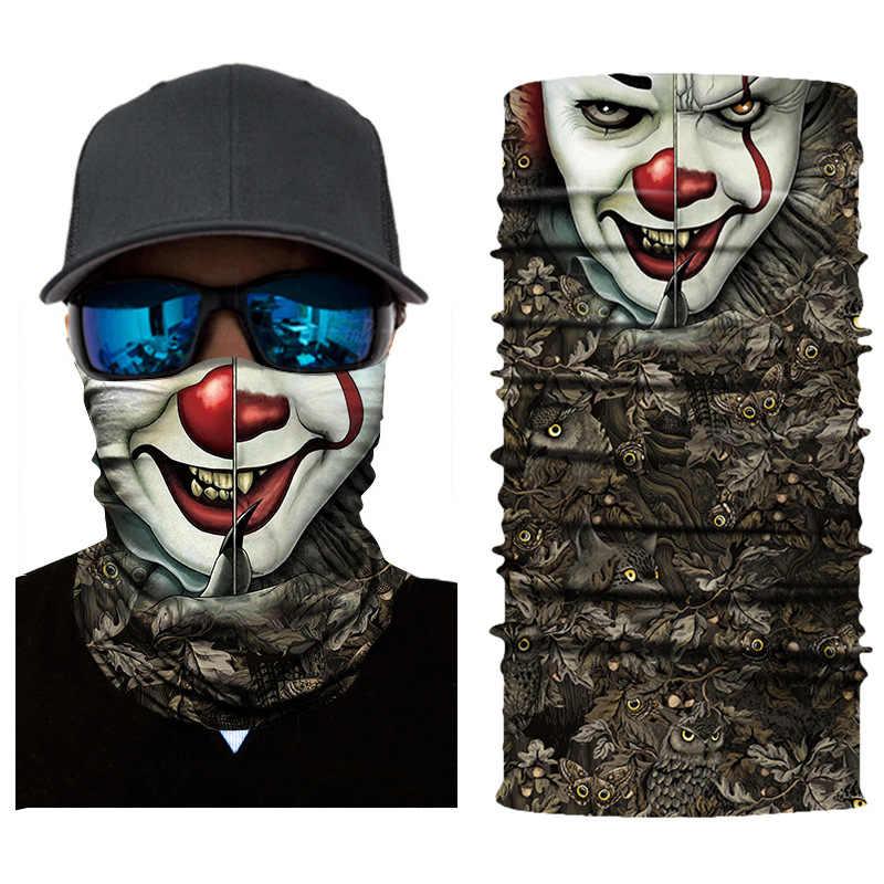 Cranio Joker Moto Sciarpa Magica Cycling Ski Della Fascia Collo Ghetta Antivento Pesca Bandane 3D Senza Soluzione di Continuità Balaclava Viso Maschera