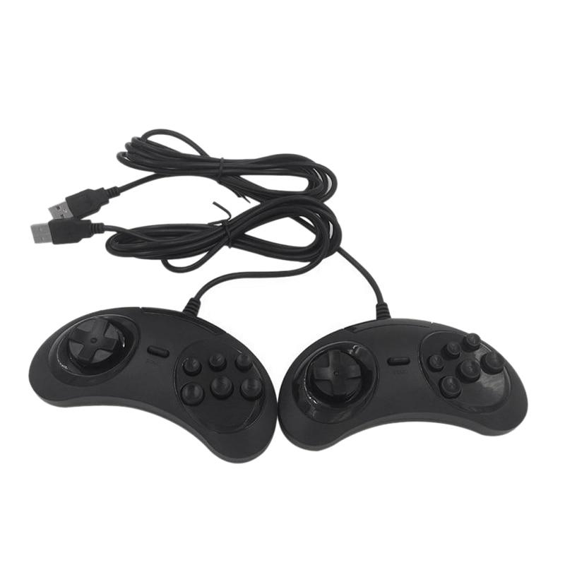 USB Gamepad Controller di Gioco 6 Bottoni per SEGA USB Gaming Joystick Supporto per PC MAC Mega Drive Periferiche E Controller Per Videogiochi