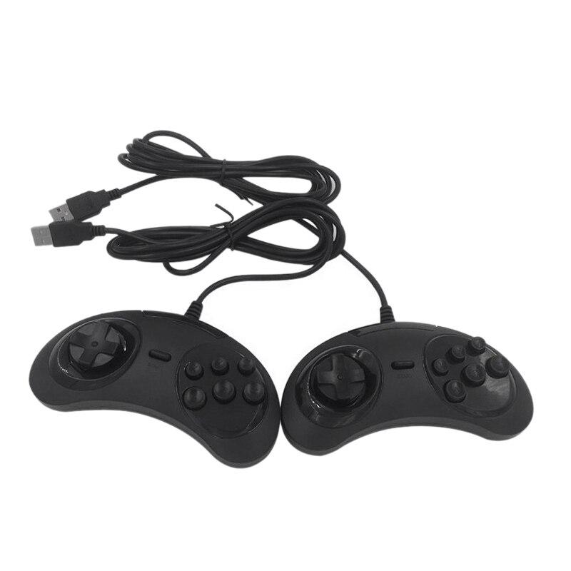 USB Gamepad Game Controller 6 Buttons for SEGA USB Gaming Joystick Holder for PC MAC Mega Drive Gamepads