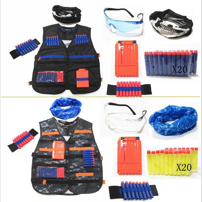 New Tactical Outdoor Game Tactical Vest Holder Kit Game Guns Accessories Toys For Nerf N-Strike Elite Series Bullets Gifts Toy