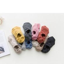Ladies Socks Harajuku-Style Korean-Fashion Women Pure-Cotton Shallow Mouth for Crew