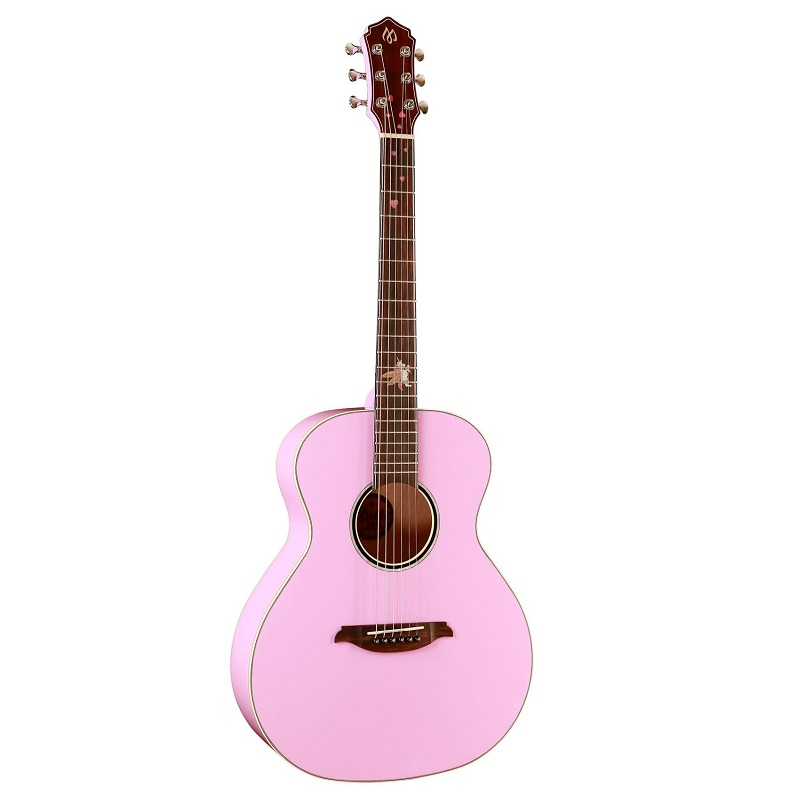 <font><b>36</b></font> inch A type cute pink girl acoustic <font><b>guitar</b></font> S1 pickup <font><b>36</b></font> inch travel acoustic <font><b>guitar</b></font> solid wood Spruce shell folk <font><b>guitar</b></font> image