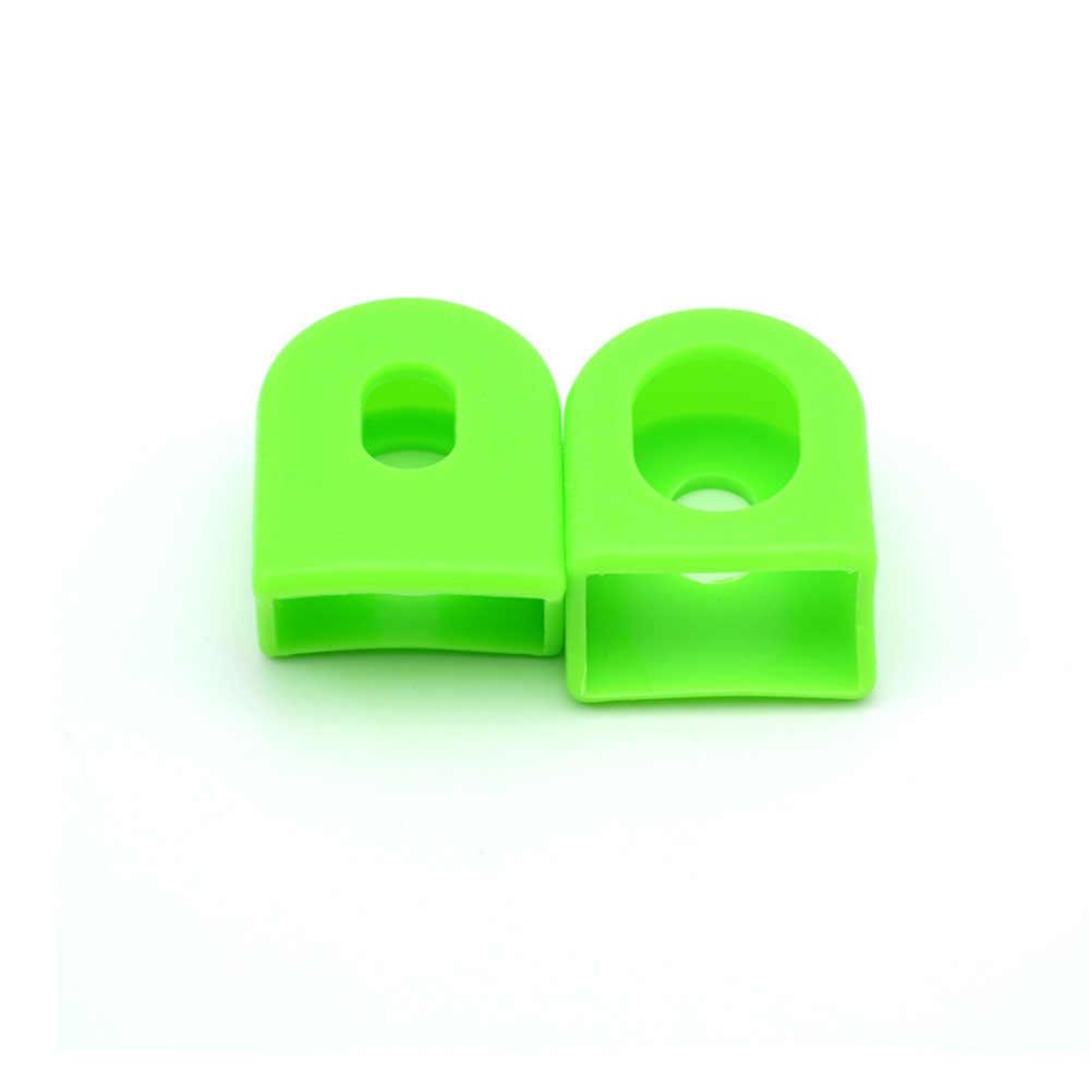 Venta caliente 1 par (2 piezas) botas para manivela de bicicleta de silicona/protectores para bicicleta MTB Crankset accesorios protectores para bicicleta de alta calidad