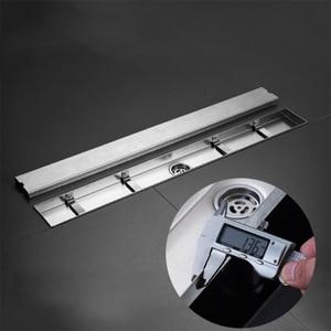 Image 4 - Linear Channel Floor Drain Gate 60Cm Stainless Steel Deodorization Type Shower Floor Drain Long Drainage Square Bathroom Drain