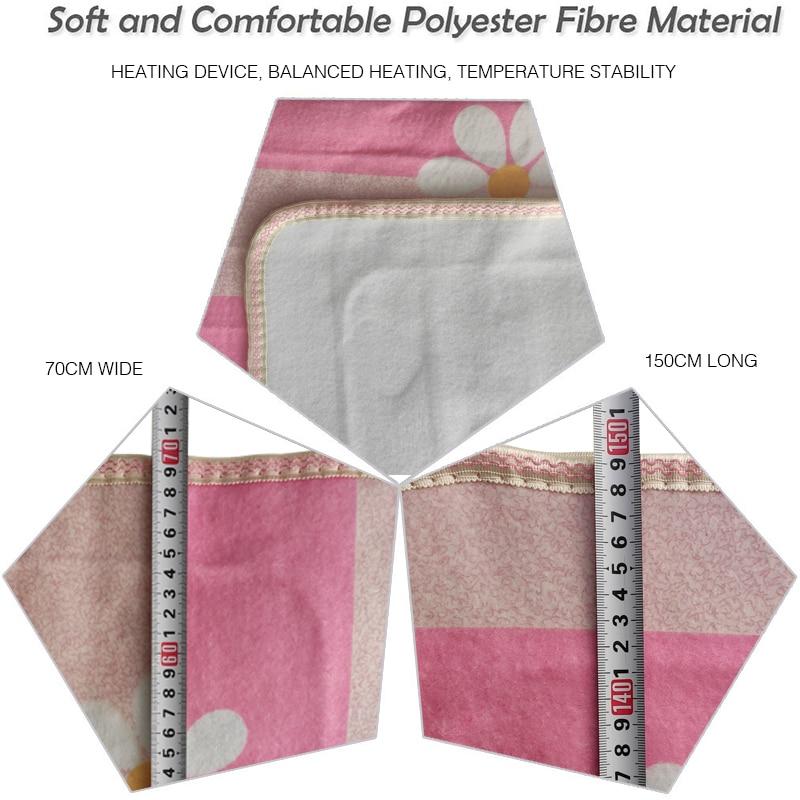 粉红电热毯细节图双人单控