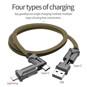 Image 3 - HOCO 4in1 USB Type C Cable 60W Metal PD Fast Charger Cable USB C to Type C Wire for Samsung Xiaomi iPhone11 MacBook Pro Air iPad