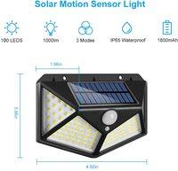 Outdoor 100 LED Solar Licht Motion Sensor Wasserdicht Sonnenlicht Garten Dekoration Led-straßenbeleuchtung Solar Laterne Wand Lampe