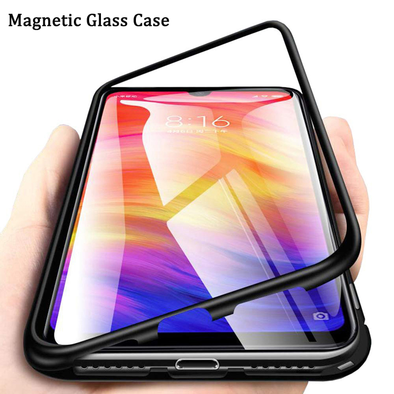 Magnetic Adsorption Shock-proof Phone <font><b>Case</b></font> For <font><b>Xiaomi</b></font> Redmi Note <font><b>8</b></font> 7 5 K20 Pro <font><b>Mi</b></font> 9 T <font><b>Mi</b></font> <font><b>8</b></font> Mi9 SE A3 Tempered Glass <font><b>Magnet</b></font> Cover image