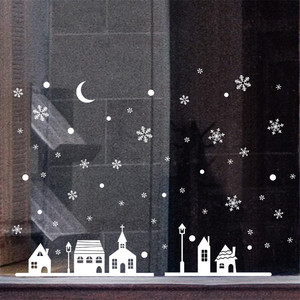 Image 5 - السنة الجديدة ملصقات عيد الميلاد للنوافذ مطعم مول الديكور الثلوج الزجاج نافذة للإزالة عيد الميلاد زخرفة #3o24