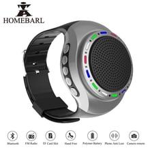 HOMEBARL U6 Colorful Running LED Cool Wrist Buetooth Watch Speaker Sports Music FM Radio Support 8GB 16GB TF Card PK B20 B90 U3