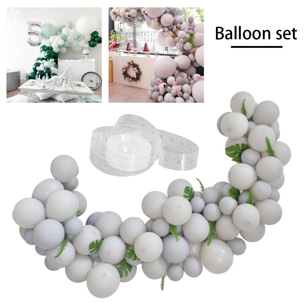 Gray High Cold Balloon Chain Party Birthday Wedding Room Balloon Decoration Balloon Set With Palm Leaf Green Plant in Ballons Accessories from Home Garden